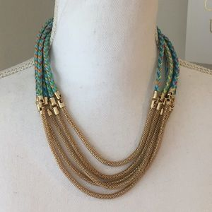 Mika Braided Rope & Chain Necklace